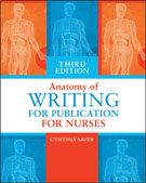 Image of the book cover for 'Anatomy of Writing for Publication for Nurses'