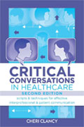 Image of the book cover for 'Critical Conversations in Healthcare'