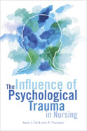 Image of the book cover for 'The Influence of Psychological Trauma in Nursing'