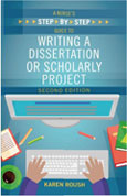Image of the book cover for 'A Nurse's Step-By-Step Guide to Writing a Dissertation or Scholarly Project'