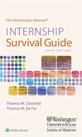 Image of the book cover for 'The Washington Manual Internship Survival Guide'