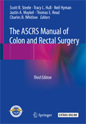 Image of the book cover for 'The ASCRS Manual of Colon and Rectal Surgery'
