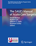Image of the book cover for 'The SAGES Manual of Acute Care Surgery'
