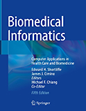 Image of the book cover for 'Biomedical Informatics'