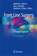 Image of the book cover for 'Front Line Surgery'